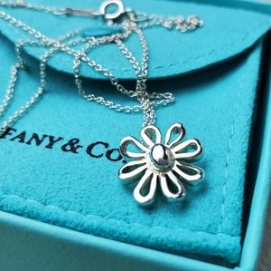 Vintage Tiffany Daisy Pendant Necklace